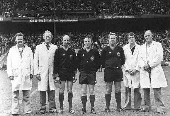 Tommy Moran the Referee in the All Ireland Minor Football Final in Croke Park in 1977